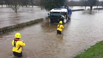 Flood warnings issued across Britain after rain