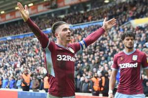 jack grealish to tottenham and manchester united man wanted by two championship clubs - rumours