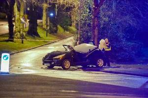 woman trapped in car after weoley castle crash