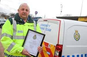 Special award for 'Saint Patrick' who's saved two lives during 1,000 hours of volunteering in Cleethorpes