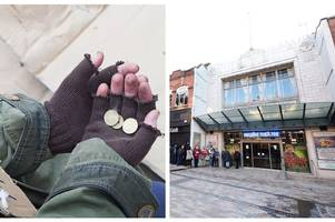 fake beggar claiming to be homeless banned from pestering hanley theatre-goers for cash