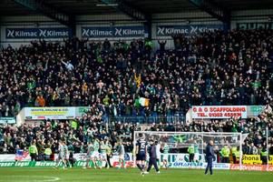 celtic fan vaults gantry to chase steward who snatched his tricolour
