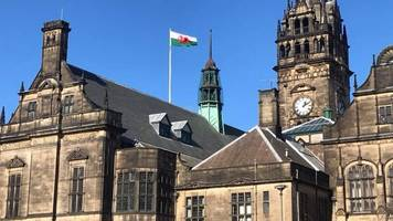 welsh flag flown on st patrick's day by sheffield city council