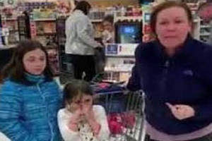 lady goes absolutely crazy and says the n-word at a target