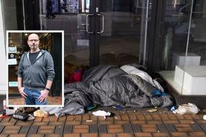 Nottingham shop workers describe how homeless queue outside every night waiting for shutters to go down