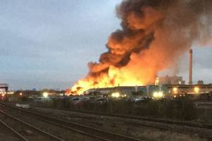 live updates - huge fire breaks out near tyseley railway station, halting rail services