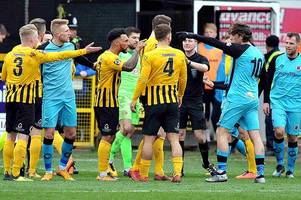 'it was harsh' - boston united boss defends red card victim ben middleton after defeat to chorley