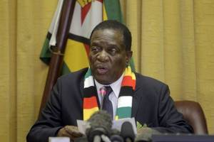emmerson mnangagwa: us should have removed zimbabwe sanctions 'yesterday'