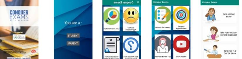 mobile application developed by iiphg, phfi to combat exam pressure: conquer exam, be a warrior