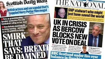 scotland's papers: brexit vote blocked and toxic land
