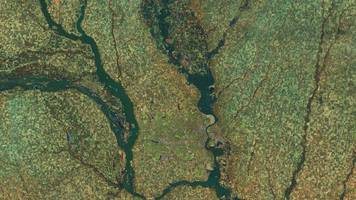 images of historic nebraska flooding from space show stunning detail