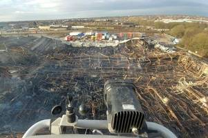 Tyseley fire: Dramatic aerial picture shows scale of warehouse inferno as cause confirmed