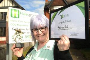 carer who 'always goes the extra mile' beats 300 other nominees to national award