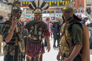why liverpool street station is being taken over by roman soldiers today
