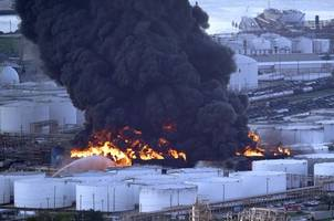 massive chemical fire continues to burn for the third day in houston, texas