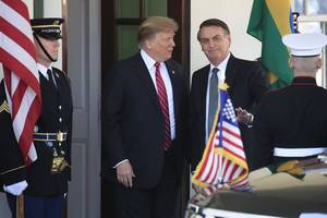 Trump endorses far-right Bolsonaro at White House and mulls bringing Brazil into NATO