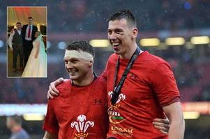 Wales Grand Slam hero gives wedding guests a shock as he turns up just hours after playing against Ireland