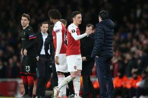 ozil, lacazette and bellerin - latest arsenal injury news and expected return dates