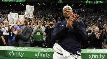 """""""this city is one of a kind"""": isaiah thomas's connection to boston remains strong"""