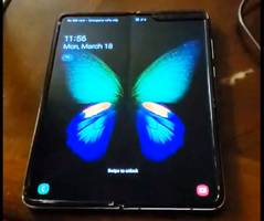 this could be our first look at the galaxy fold's rumored creasing issue that samsung is supposedly trying to fix