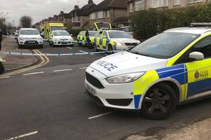 chelmsford stabbing pictures show police cordon blocking road