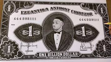 currency artist ezeanyika anthony chibuzor on his life in london