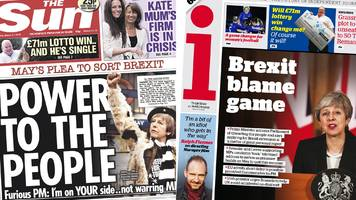 the papers: is may 'deluded' or a 'citizen' leader?