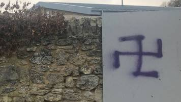 two boys questioned over oxford school swastika graffiti