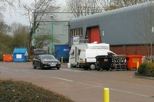 travellers in exeter are 'using van workshop as toilet' after row