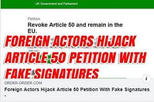 revoke article 50 petition 'hijacked by foreign actors' claim debunked