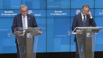 tusk and juncker brexit press conference: moments that raised a smile