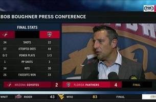 bob boughner credits their win to a 'team effort'