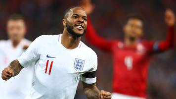 england 5-0 czech republic: raheem sterling hat-trick in opening euro 2020 qualifier
