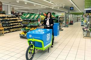 co-op now offering home delivery service on electric bikes