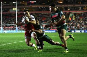 geordan murphy reacts to leicester tigers derby defeat by northampton saints