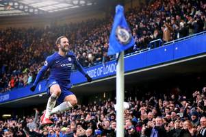chelsea supporters all noticed the same thing about gonzalo higuain's training goal