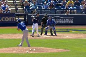 watch: brewers' yelich clears the batter's eye with 2-run homer