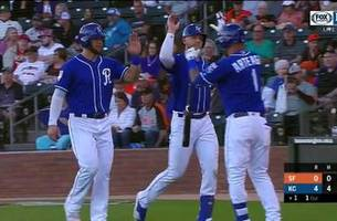 Four homers power Royals past Giants in 15-3 onslaught