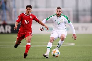 richard keogh features for republic of ireland as jeff hendrick nets winner against gibraltar