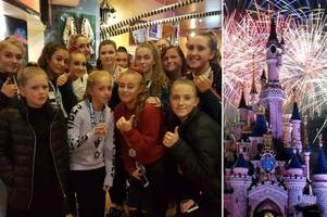 disneyland paris panic: exeter cheerleaders caught up in 'security alert' at theme park