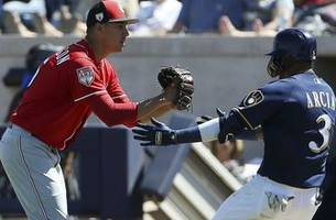 davies allows three earned runs in brewers' 6-4 victory
