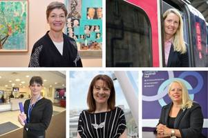 the faces of 24 of hull's most influential women