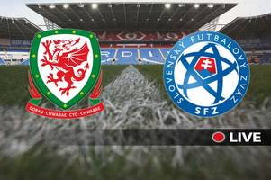 wales v slovakia live: kick-off time, tv details, team news and score updates from euro 2020 qualifier
