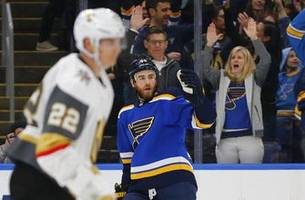 blues beat golden knights 3-1 to close in on playoff spot