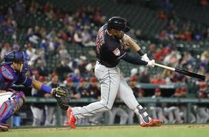 Stamets' grand slam sends Indians past Rangers 10-1