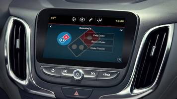 order domino's directly from your car's touchscreen
