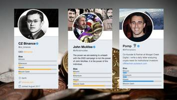 this app exposes which cryptocurrency a user is most likely to shill on twitter