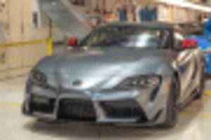 first customer examples of 2020 toyota supra roll off the line