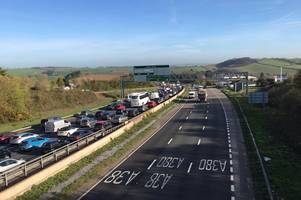 traffic chaos in exeter after serious m5 crash