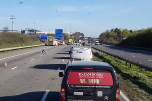 m5 crash: man suffers serious injuries in collision which closed motorway